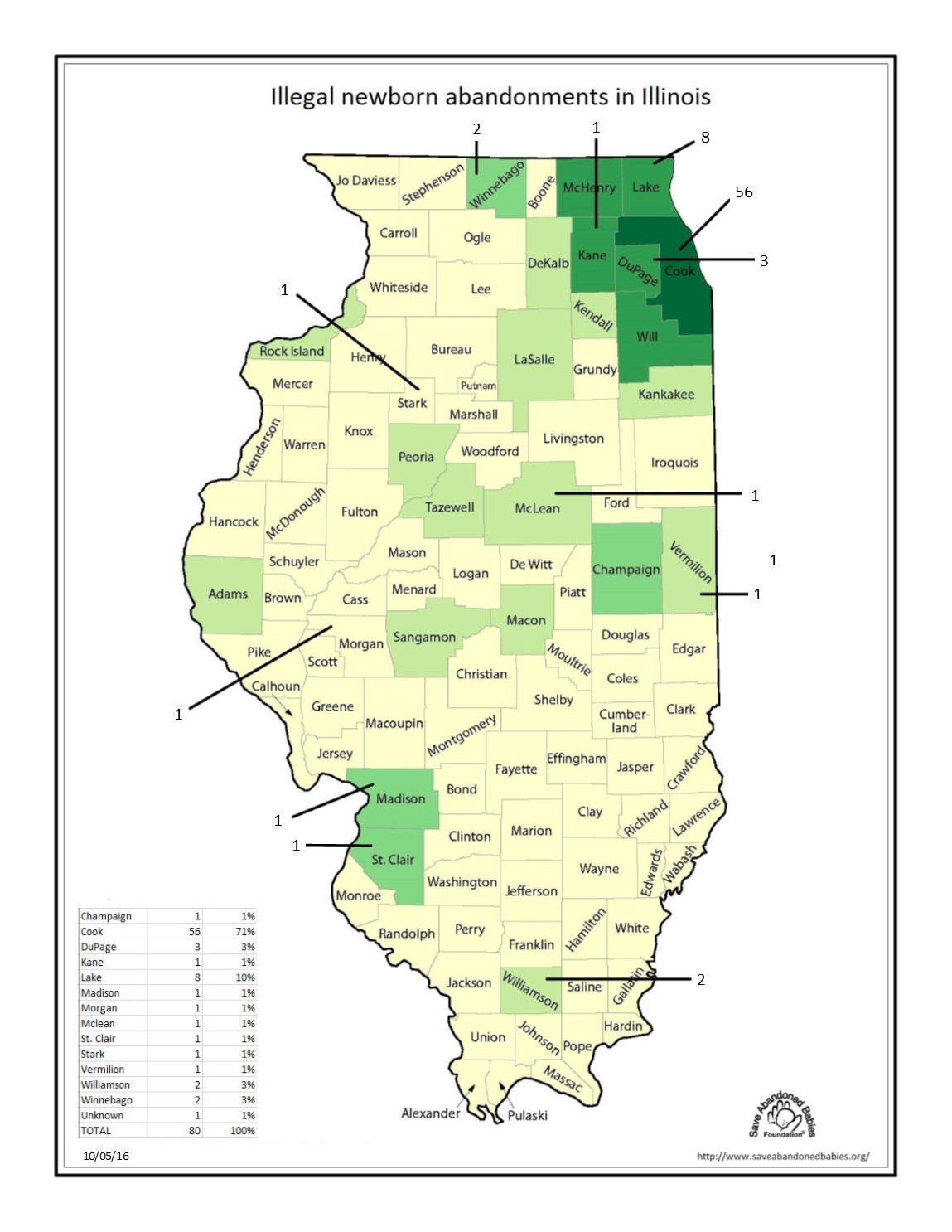 County Map of Illegal 10-05-16