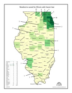 County Map of Saves 10-05-16