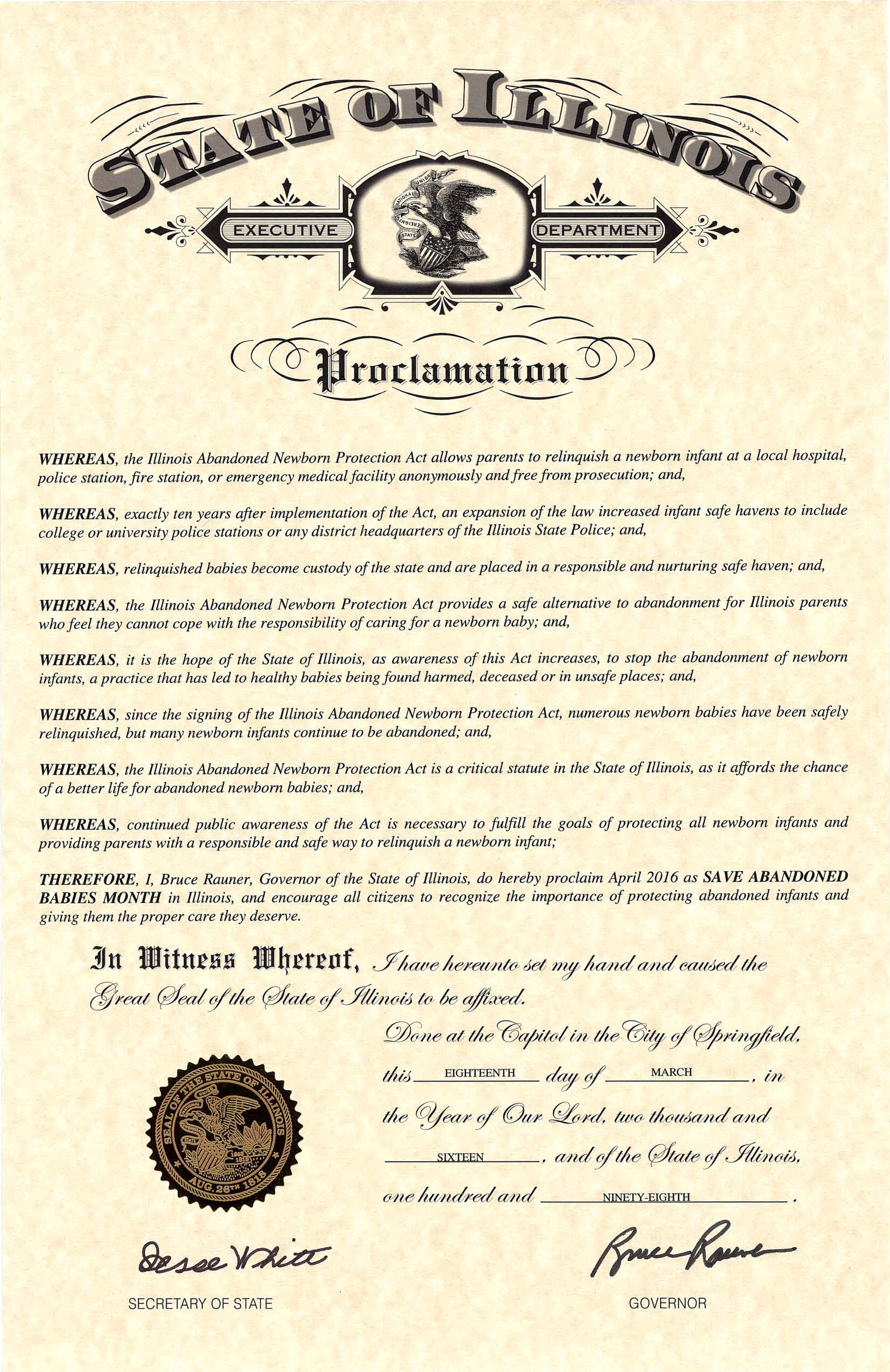2016 Gov. Proclamation