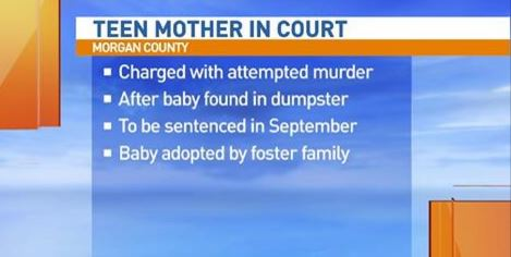 Teen Pleads Guilty to Leaving Newborn in Dumpster