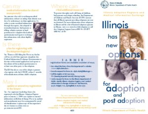 Illinois Adoption Registry Brochure