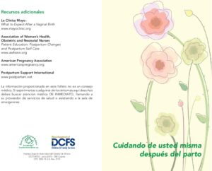 Post-partum Health Information Brochure (Spanish)