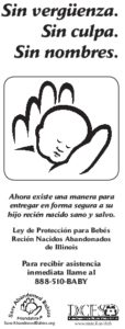 Abandoned Newborn Infant Act Information Card (Spanish)