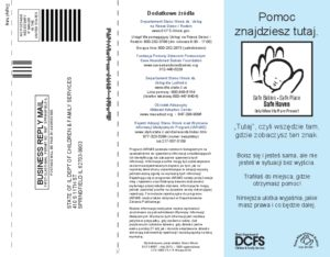 Safe Haven Law Info And Optional Registration Brochure (Polish)